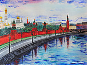 Moscow Painting Metal Prints - Moscow Metal Print by Valentina Copeland