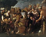 Famous Artists - Moses and the water from the stone by Gioacchino Assereto
