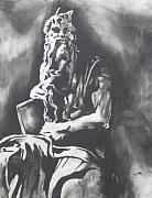 Bible Drawings Metal Prints - Moses Metal Print by Jeremy Moore