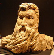Beard Sculpture Prints - moses Michel Angelo Print by Joseph Hawkins