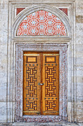 Religious Art Photo Framed Prints - Mosque doors 04 Framed Print by Antony McAulay