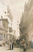 Alleyway Paintings - Mosque El Mooristan by David Roberts