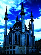 The Church Mixed Media - MOSQUE in Blue Colors by Yury Bashkin