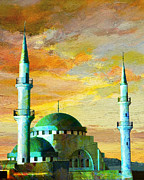Mosque Paintings - Mosque Jordan by Catf