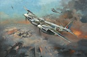 Bomber Painting Framed Prints - Mosquito Raiders Framed Print by Colin Parker