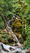 Sandoval Framed Prints - Mossy falls Framed Print by Lena Sandoval-Stockley