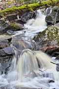 Joshua Mccullough Photography Prints - Mossy Log Falls Print by Joshua McCullough