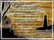 Most Mixed Media - Most Powerful Prayer with Lighthouse Scene by Barbara Griffin