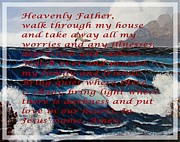 Most Mixed Media - Most Powerful Prayer with Ocean Waves by Barbara Griffin