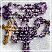 Rosary Posters - Most Powerful Prayer with Rosary Beads Poster by Barbara Griffin