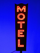 Neon Photos - Motel by Diane Diederich