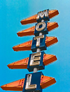 Signage Digital Art Posters - Motel Large Poster by Matthew Bamberg