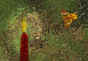 Autumn Leaf Digital Art - Moth To The Flame by Jack Zulli
