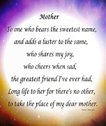 Cheers Prints - Mother - Circle of Love Print by Barbara Griffin