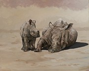 Robert Teeling - Mother and Baby Rhino