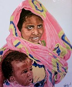 African Child Originals - Mother and Child by Arron Kirkwood