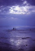 Mother And Daughter Prints - Mother and Child at Dusk on Koh Phangan  Print by Anna Lisa Yoder