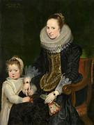 Famous Artists - Mother and child by Cornelis de Vos