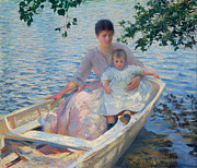 Famous Artists - Mother and Child in a Boat by Edmund Charles Tarbell