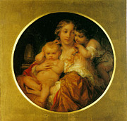 Christ Child Digital Art Prints - Mother and Child Print by Paul  Delaroche