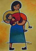 Child Care Originals - Mother And Childs Care by Hermel Alejandre
