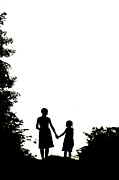 Caring Mother Posters - Mother And Daughter Holding Hands Poster by Lee Avison