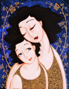 Mother And Daughter Prints - Mother and Daughter Print by Rebecca Mott