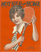 Nineteen-tens Art - Mother And Home 1915 1910s Uk Tennis by The Advertising Archives
