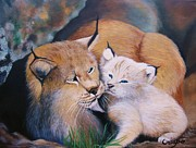 Jean Yves Crispo - Mother and kitten bobcat