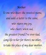 Cheers Prints - Mother Print by Barbara Griffin