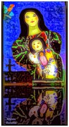 Mother Child Doll Print by Alexis Rotella