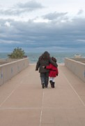 Indiana Dunes Photos - Mother Daughter Moment by Ann Horn