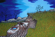 Global Drawings - Mother Earth Cryin Out by Dennis Nadeau