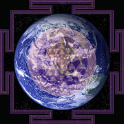 Friendly Digital Art - Mother Earth Yantra by Svahha Devi