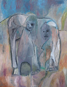 Expressionist Prints - Mother Elephant Print by Edgeworth Johnstone