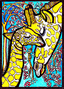 Judy Moon - Mother Giraffe with Baby