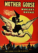 Nursery Rhymes Posters - Mother Goose Poster by Bill Cannon