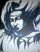Catholic Art Drawings Originals - Mother Mary Concept by Michael Toth