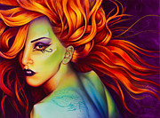 Lady Gaga Painting Prints - Mother Monster Print by Scott Spillman