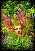 First Lady Mixed Media Metal Prints - Mother Nature Metal Print by Chuck Staley