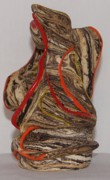 Glazed Pottery Ceramics - Mother Natures Fury by Susan Perry