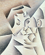 Earrings Metal Prints - Mother of the Artist Metal Print by Juan Gris