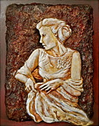 Figures Reliefs Framed Prints - Mother of the Bride Framed Print by Phyllis Dunn
