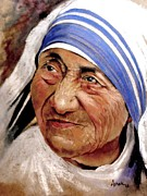 Legend  Pastels - Mother Teresa by Ashok Karnik