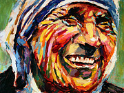 Mother Teresa Paintings - Mother Teresa by Derek Russell