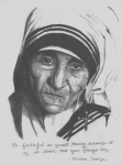 Mother Teresa Framed Prints - Mother Teresa  Framed Print by Madelyn Mershon