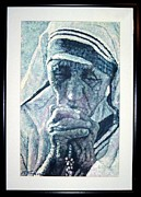 Mother Teresa Paintings - Mother Teresa Portrait by Michael Torevell