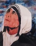 Mother Teresa Paintings - Mother Teresa by Steven Clayton