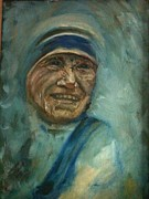 Aids Paintings - Mother Teresa by Suzanne Reynolds