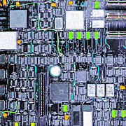 Circuit Board Framed Prints - Motherboard Abstract 20130716 p38 square Framed Print by Wingsdomain Art and Photography